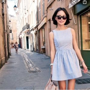 American Apparel Blue White Striped Summer Dress S